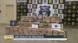 Em Manacapuru, 200 kg de maconha são encontrados
