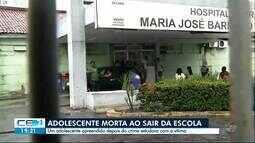 Estudante é morta ao sair da escola
