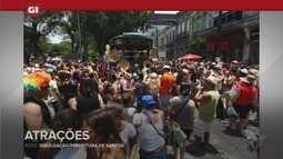 G1 em 1 minuto - Santos: Carnabonde é uma das atrações da região durante o Carnaval
