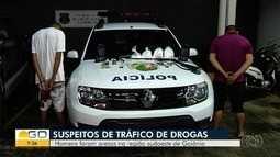 Dois homens são presos suspeitos de tráfico de drogas em Goiânia