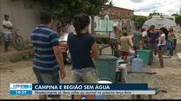 Desabastecimento de água em Campina Grande e região já dura 8 dias