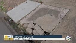 Prefeitura de Cuiabá coloca tampa em bueiro da Avenida Tenente Coronel Duarte