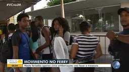 Veja como está o movimento no ferry boat para o feriado de Páscoa