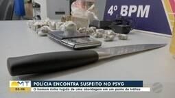 Polícia encontra suspeito de tráfico no Pronto Socorro de Várzea Grande
