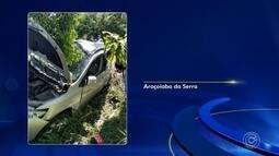 Motorista morre após bater carro em árvore em Araçoiaba da Serra