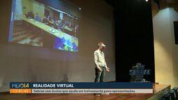 Sebrae usa óculos de realidade virtual para ajudar pessoas a falar em público