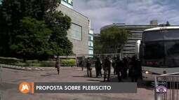 Reunião de líderes na assembleia do RS debate proposta sobre plebiscito