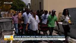 Corpo de jovem morto atropelado por ambulância do Samu é enterrado em Alagoinhas