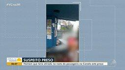 Polícia prende suspeito de atirar no rosto de homem que esperava ônibus no Canela