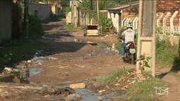 Moradores reclamam da falta de infraestrutura em ruas de residencial em Paço do Lumiar