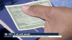 Eleitores em situação irregular têm até esta segunda para evitar cancelamento do título