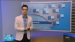 Veja como ficará o tempo em todas as regiões de SC nesta quarta-feira (22)