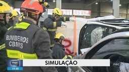 Evento de resgate veicular reúne bombeiros de 17 estados em Chapecó