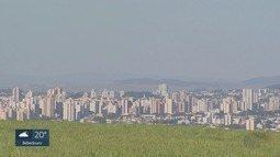Umidade do ar cai em várias cidades da região de Ribeirão Preto, SP
