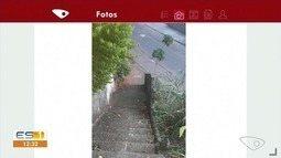 Moradores do Sul do ES relatam problemas em escadaria