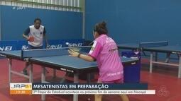 Atletas se preparam para o Campeonato Amapaense de Tênis de Mesa