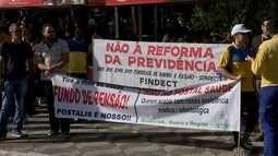 Confira os protestos contra a reforma da previdência em Bauru