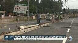 Novo trecho do BRT deve ser liberado nesta segunda-feira (17)