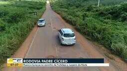 Motoristas reclamam das condições da Rodovia Padre Cícero