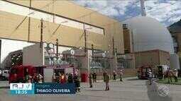 Corpo de Bombeiros e brigada de incêndio fazem simulado na Usina Nuclear de Angra dos Reis