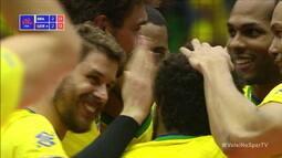 Melhores momentos: Brasil 3 x 2 Alemanha pela Liga das Nações de vôlei masculino
