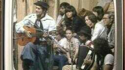 Memórias: relembre apresentação do cantor Leonardo no Galpão Crioulo em 1982