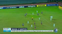Bahia enfrenta o Santos neste sábado, em Salvador