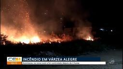 Incêndio na zona rural de Várzea Alegre