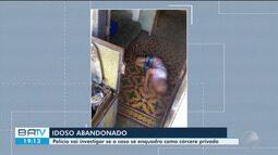 Idoso resgatado de situação de abandono continua internado em UPA de Feira de Santana