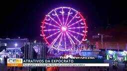 Roda gigante e tirolesa atraem público na Expocrato