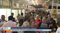 Festival do Chocolate e Cacau atrai centenas de pessoas para Ilhéus, no sul do estado