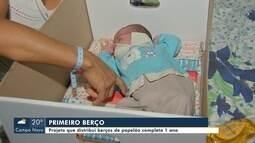 Projeto que distribui berços de papelão para recém-nascidos completa 1 ano