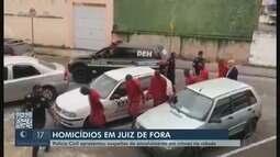 Polícia Civil apresenta conclusão de investigações de cinco homicídios em Juiz de Fora