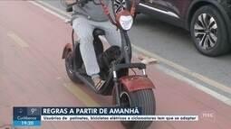 Decreto regulamenta uso de patinetes e ciclomotores em Balneário Camboriú; veja regras