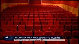 Teatro de Divinópolis interrompe atividades para aplicação de produto contra incêndio