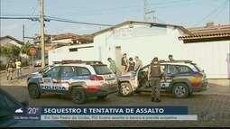 Suspeitos rendem gerente e mãe em tentativa de assalto a agência de São Pedro da União, MG