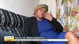 Pacientes com câncer reclamam de falta de medicamentos para quimioterapia no sul do estado