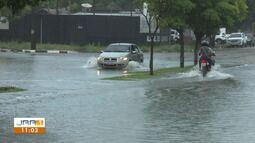 Chuva forte causa alagamentos em Boa Vista
