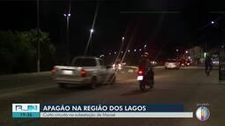 Curto-circuito na subestação de Macaé provoca apagão nas cidades do interior do Rio
