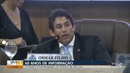 Jornal O Estado é homenageado na Câmara dos Vereadores de São Luís