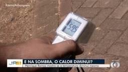Termômetro marca 60ºC em pista de caminhada de parque em Goiânia