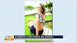 Mulher morre após colisão de motocicletas em Iguatu; motociclista morre em Salitre