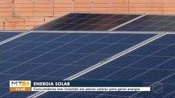 Consumidores têm investido em placas solares para gerar energia em Sinop