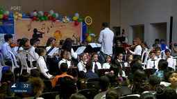 Orquestra Novos Talentos realiza concerto musical para 182 crianças