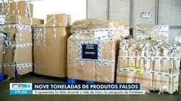 Receita federal apreende 9 toneladas de produtos falsos no aeroporto de Fortaleza