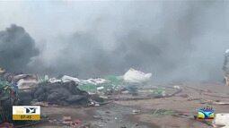 Incêndio é registrado na BR-135 no Maranhão