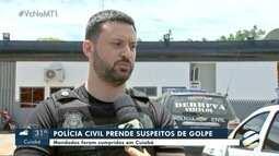 Polícia prende suspeitos de roubo de veículos
