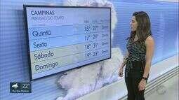 Confira a previsão do tempo para a região de Campinas nesta quinta-feira (10)