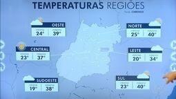 Confira a previsão do tempo para esta quarta-feira (16) em Goiás
