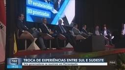 Governadores do Sul e Sudeste assinam carta com temas acordados entre os estados